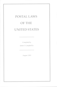 Postal Laws of the United States